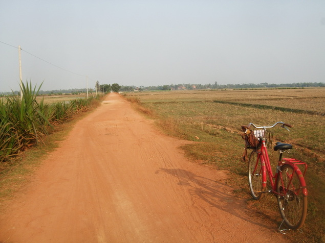 Siem Reap bicycle rental off beaten path Cambodia
